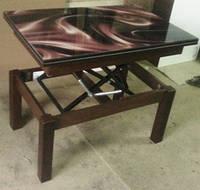 Стол-трансформер Флай со стеклом