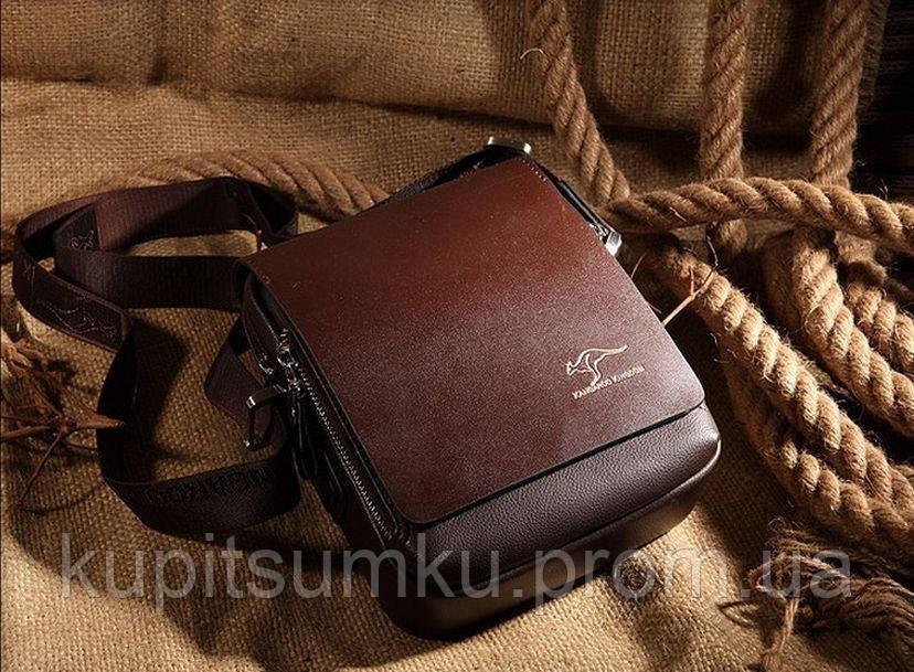 672fe69c1020 ... Мужская брендовая повседневная офисная модная стильная кожаная сумка  KANGAROO KINGDOM, ...