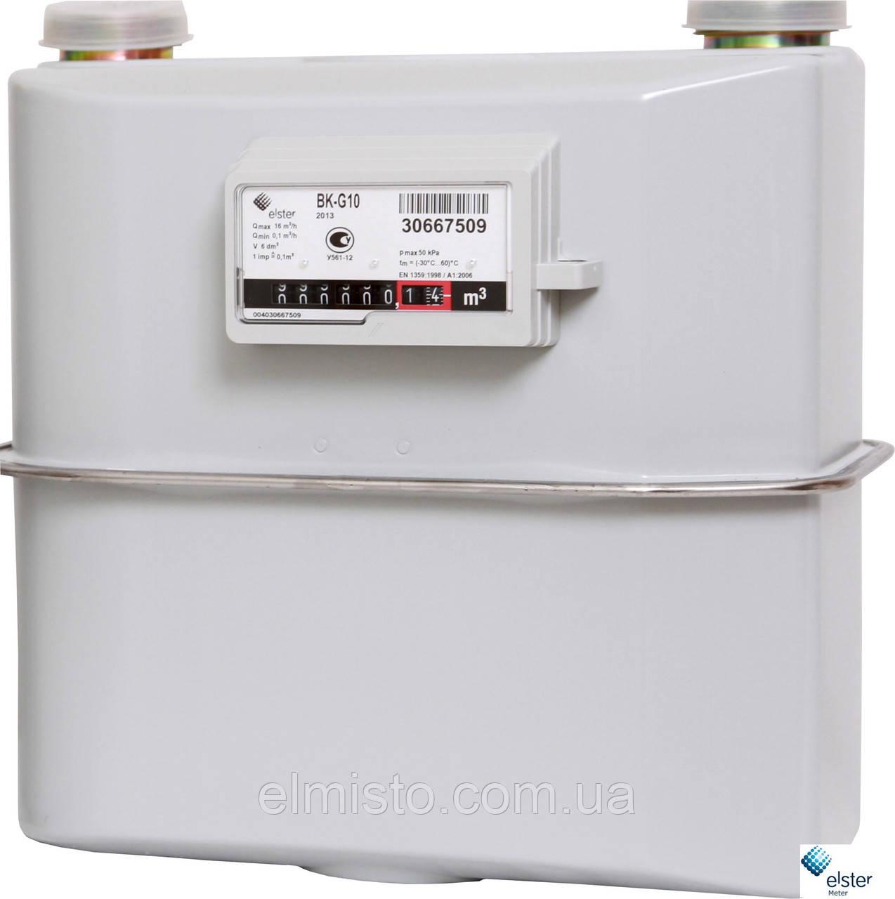 Счетчик газа ELSTER BK G 10 мембранный (диафрагменный) коммунальный «ElsterGroup» (Словакия-Германия)