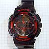 Детские часы Casio BabyG BGA-13018 (114291) черные с красным копия календарь подсветка