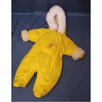 Зимний комбинезон для новорожденных (0-6 месяцев) желтый