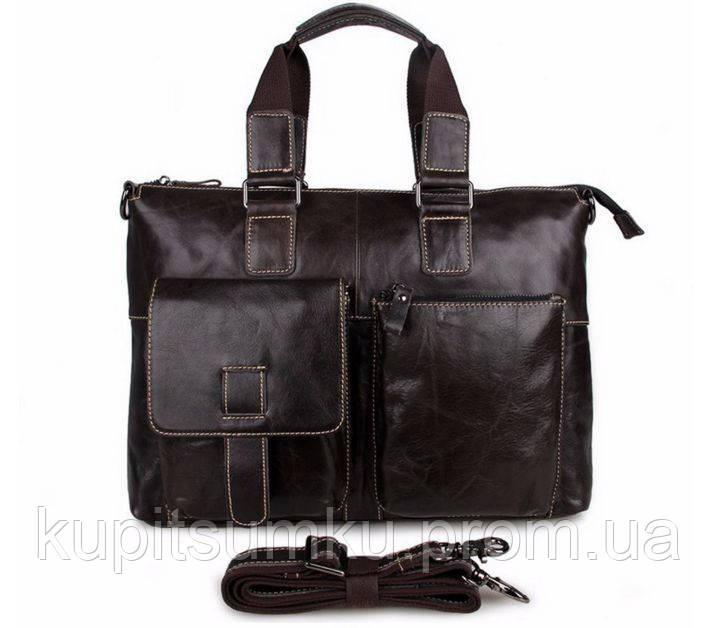 Портфель сумка Мужская CROSS OX Темно-коричневый