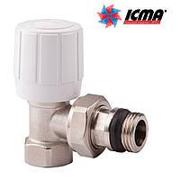 Icma Угловой терморегулирующий вентиль с ручным и термостатическим управлением 1/2