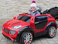Лицензионный электромобиль Porsche Cayenne M 2735 EBLR-3 колеса EVA,кож сиденье
