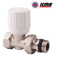 Icma Прямой терморегулирующий вентиль с ручным и термостатическим управлением 1/2