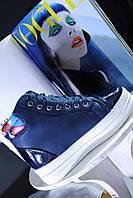 Сникерсы женские синие
