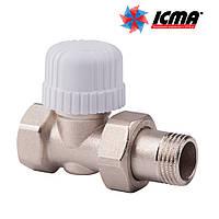 Icma Прямой термостатический вентиль с предварительной настройкой для железной трубы 1/2