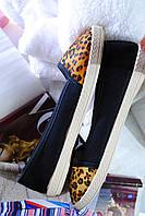 Мокасины женские леопард 39,40