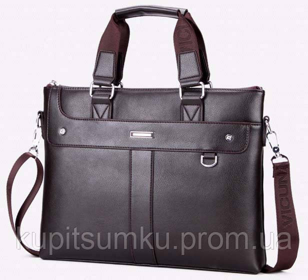 Стильная мужской портфель VIDENG POLO Да, Южная Корея, Темно-коричневый
