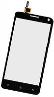 Сенсор (тач скрин) LENOVO S580 black (оригинал)