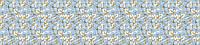 """Панно из листовых панелей ПВХ Регул """"Синие цветы"""""""