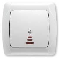Выключатель 1-кл. проходной с подсветкой белый ViKO Carmen 90561063