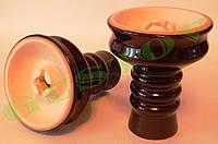 Чаша для кальяна АПГ Фанель коричневая глазурь
