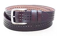 Коричневый кожаный ремень TIA с перфорацией, фото 1