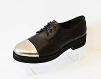 Туфли женские на шнурке Aquamarin