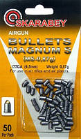 Пули для пневматики, пули Скарабей 0,87г 50 шт/уп. Пули Magnum комбинированная Скарабей