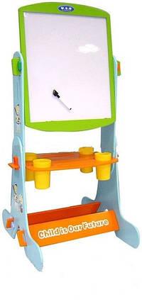 Детский мольберт W018  магнитно-рисовальная на подставке, фото 2