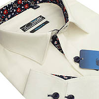 Оригинальная белая рубашка для мужчин