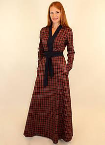 Теплое платье с длинным рукавом 44-46-48 р