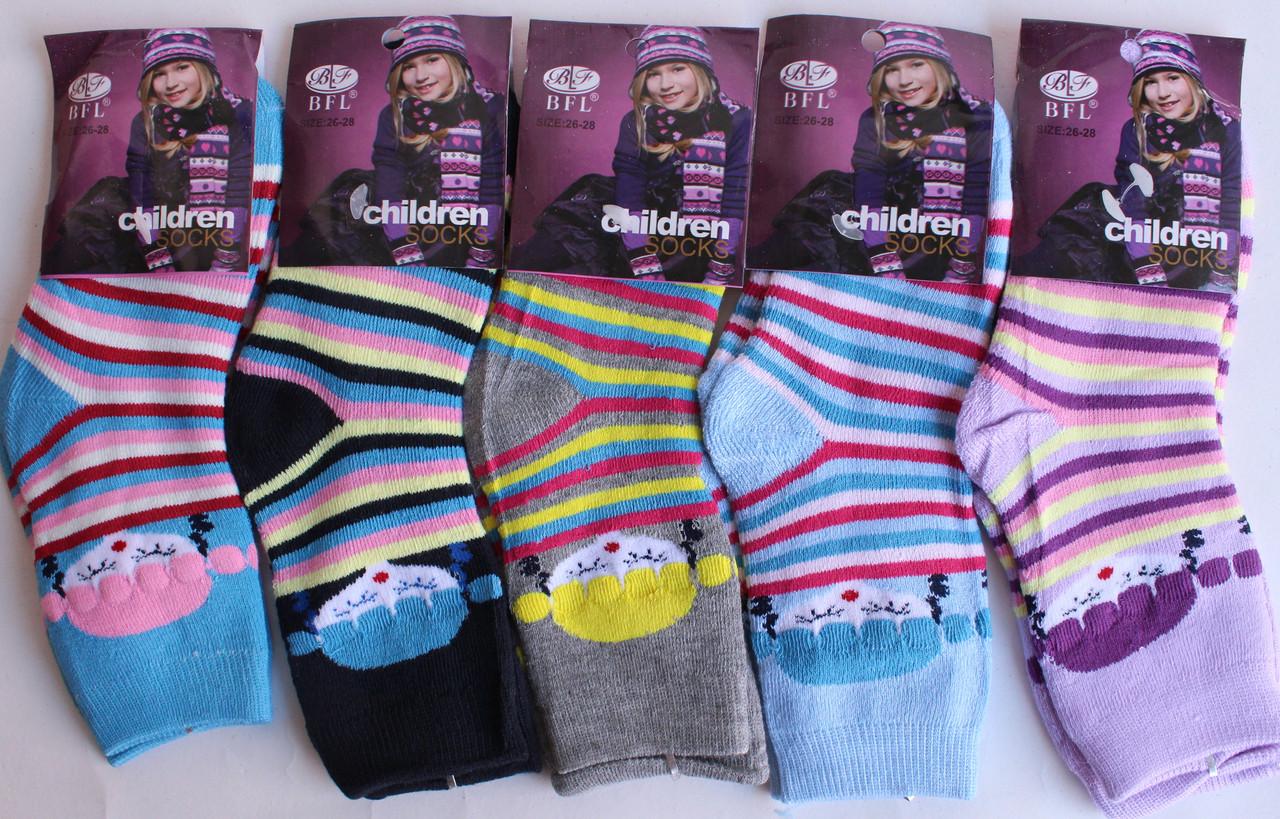 Махровые носки на девочку «BFL» 26-28