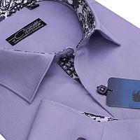 Красивая фиолетовая рубашка для мужчин, фото 1