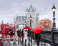 """Раскраска по цифрам Турбо """"Осень в Лондоне""""  40 х 50 см"""
