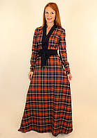 Модное платье в клетку осень 44-50 р