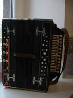 Баян аккордеон инкрустация кость перламутр царизм