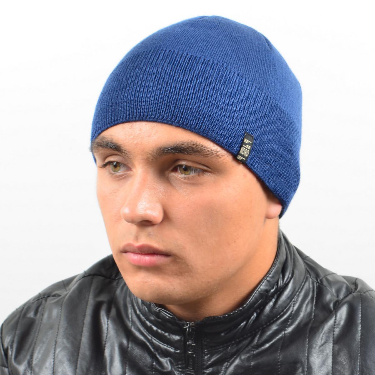 Мужская вязанная шапка NORD джинс