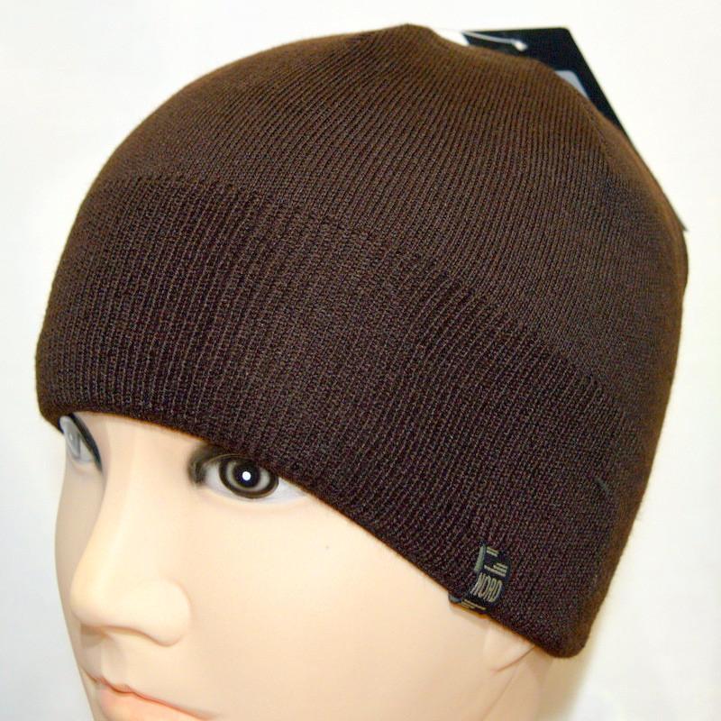 Мужская вязанная шапка NORD коричневый