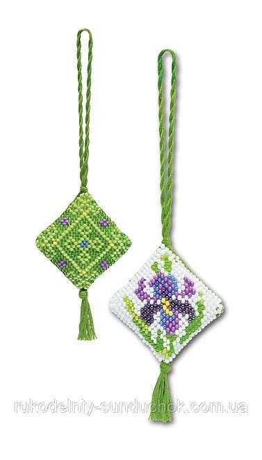 """Набор для вышивания для начинающих «Маячок для ключей """"Ирис""""» (1158), Риолис"""