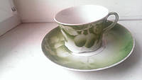 Чайная пара фарфор Гарднер 20е годы