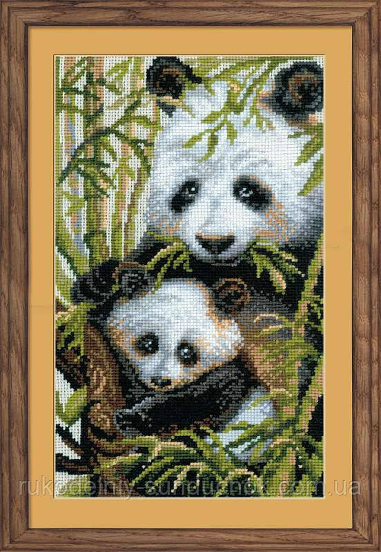 Набор для вышивания крестом «Панда с детенышем» (1159), Риолис