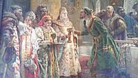 Картина репродукция Маковский поцелуйный обряд цар