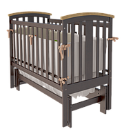 Детская кроватка Woodman Mia УМК Шоколад-Натуральное без ящика
