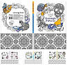 Раскраска Антистресс 200х200мм твердая обложка 36 листов RV-200x200-7BC-36 Мандарин уп16
