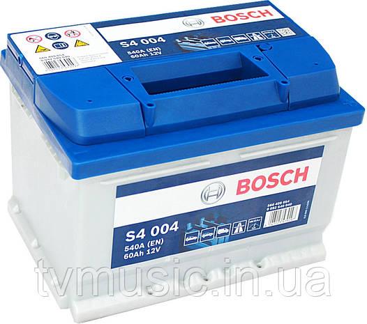 Аккумулятор Bosch S4 004 Silver 60Ah 12V (0092S40040)