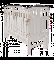 Детская кроватка Woodman Mia УМК Снежно белое-Шоколад без ящика