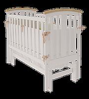 Детская кроватка Woodman Mia УМК Снежно белое-Натуральное без ящика