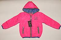 Куртка на девочку демисезонная 6-12 лет розовая.