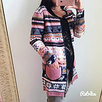 Женский теплый кардиган с шарфиком (2 цвета)