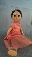 М Игрушка кукла индианка папье маше СССР