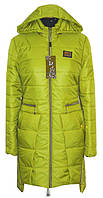 Стильный демисезонный женский плащ зеленого цвета Размеры 42 44