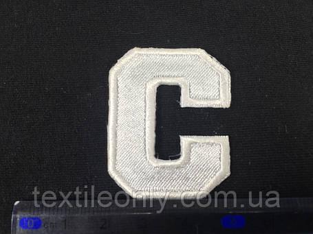 Нашивка буква C цвет белый, фото 2