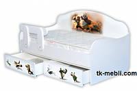Фабричная кровать- диванчик для подростков Панда Кунфу