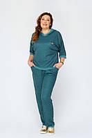 Женский спортивный костюм больших размеров Марин зеленый