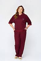 Женский спортивный костюм больших размеров Марин марсала