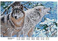 Схема для частичной зашивки бисером - Пара волков