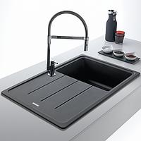 Кухонная мойка искусственный камень Franke Basis BFG 611-78 графит