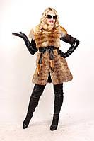 Женская жилетка из меха лисы Платье крыло